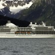 Cruise ship leaving Seward — Stockfoto #12736965