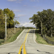 American country asphalt road — Stock Photo