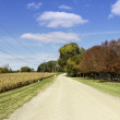 American countryside gravel road — Stock Photo