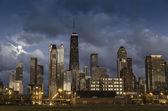 Stadt chicago skyline — Stockfoto