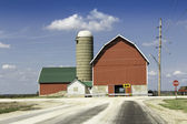 American country farm — Stock Photo