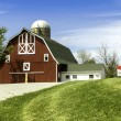 Stock Photo: Americcountry farm with silo