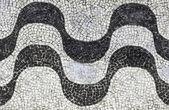 Copacabana mosaic backgroung — Stock Photo