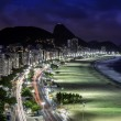 Copacabana Beach at night — Stock Photo