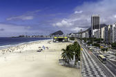 Aerial view of Copacabana Beach — Stock Photo