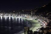 Copacabana Beach at night — Stock Photo