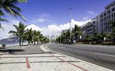 Road by Ipanema Beach in Rio de Janeiro — Stock Photo