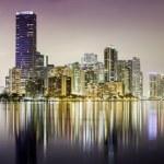 Miami downtown panorama at night — Stock Photo