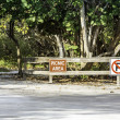 Tourist information sign - picnic area - Stock Photo