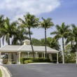 Stock Photo: Entrance to gated community in Naples, Florida
