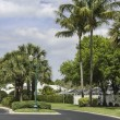 Stock Photo: Traditional gated community road in Naples, Florida