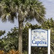 Captiva Island welcome to sign — Foto de Stock