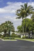 Route traditionnelle communauté fermée à naples, Floride — Photo
