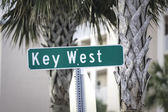 Key West street sign — Stock Photo