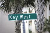 Key West street sign — Stock Photo