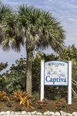 île de captiva bienvenue à signer — Photo