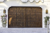 Typical wooden garage in South Florida — Foto Stock