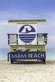 Plavčík věž v south beach, miami — Stock fotografie