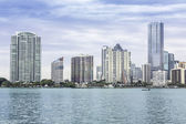 Miami skyline from Biscayne Bay — Foto de Stock