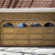 Stock Photo: Two car wooden garage