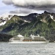 Cruise ship leaving Seward — Stockfoto