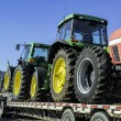 Oversize truck with tractors — Stock Photo #27544237