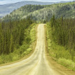 Stock Photo: Gravel road in Alaska