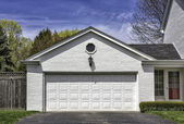Two car wooden garage — Stock Photo