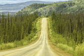 Gravel road in Alaska — Stock Photo