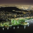 Stock Photo: Aerial view of Rio De Janeiro by night
