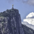 Christ the Redeemer in clouds, Rio de Janeiro — Stock Photo