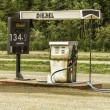 Old gas station with vintage gas pump — Stock Photo #30748967