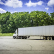 Truck with trailer — Stock Photo