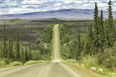 Dalton Highway in Alaska — Stock Photo