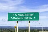 Signe de la route de l'alaska — Photo