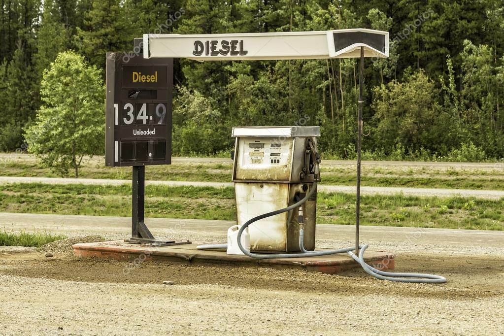 Old gas station with vintage gas pump - Stock ImageOld Gas Station Pump