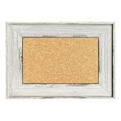 Wood painted frame isolated on white — Stock Photo