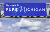 Welcome to Michigan sign — Stock Photo