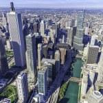 Chicago skyline panorama aerial view — Stock Photo #32102645