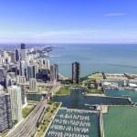 Chicago skyline panorama aerial view — Stock Photo #32102731