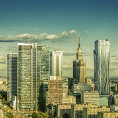 Warsaw downtown — Stock Photo