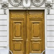 Wood entry door in Paris, France — Stock Photo #35143895