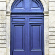 Wood arch entry door in Paris, France — Stock Photo #35143897