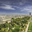 Stock Photo: Aerial View on Champ de Mars and Invalides in Paris, France