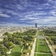 Stock Photo: Aerial View on Champ de Mars and Invalides