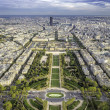 Stock Photo: Aerial View on Champ de Mars and Invalides in Paris