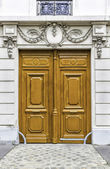 Wood entry door in Paris, France — Stock Photo