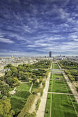 Aerial View on Champ de Mars and Invalides — Stock Photo