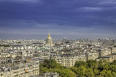 Paris aerial view with Church Saint-Louis des Invalides — Stock Photo