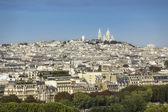 Paris with Sacre Coeur Basilica — Stockfoto